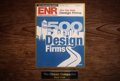 Chazen ranked in Top 500 Design Firms